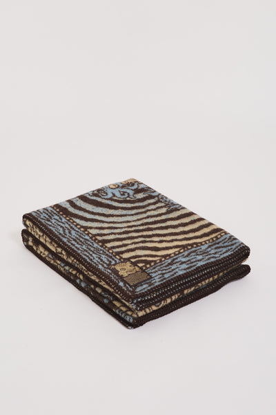 Kappa Pure Wool Blanket Brown/Light Blue/Beige - Maplestore