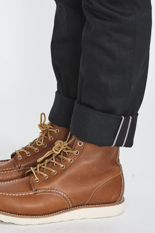 Tellason Black Selvedge and Red Wing Boots