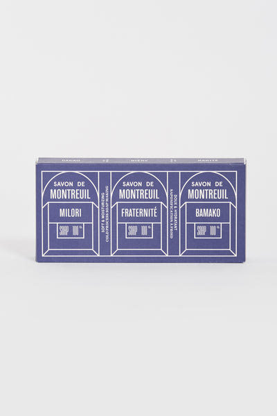 Pack The 3 Soaps Of Montreuil . Fraternite/Milori/Bamako - Maplestore