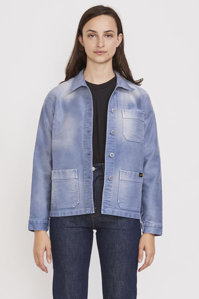 Vintage Washed Work Jacket Blue - Maplestore