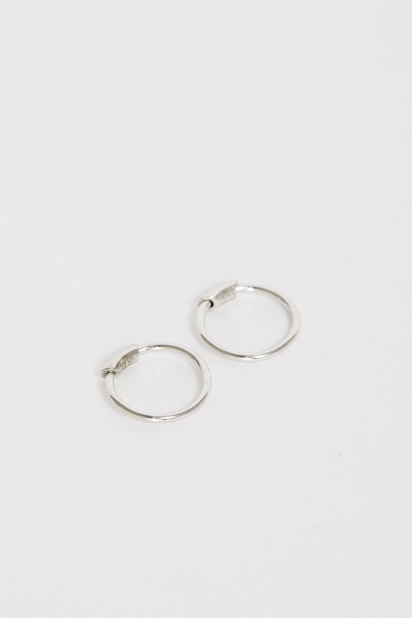 MARIA BLACK Basic Hoop Xs Earrings Pair. Silver
