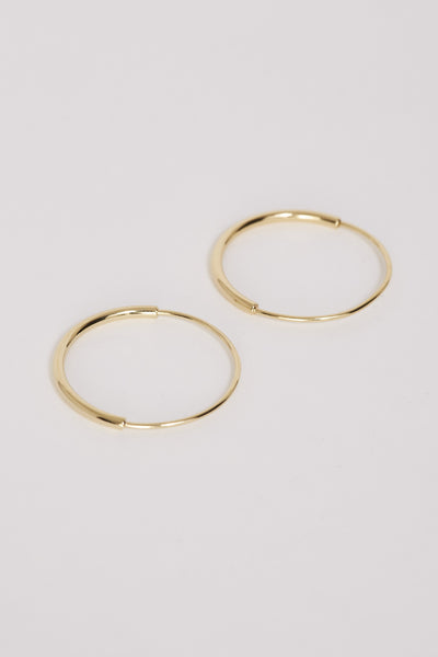 MARIA BLACK Delicate 22 Hoops Gold - Maplestore