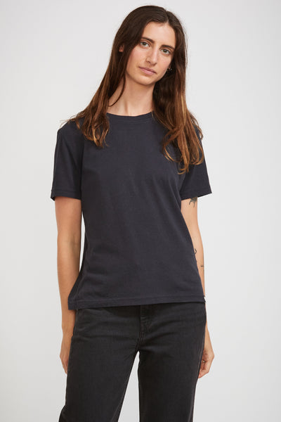 GOOD BASICS | Women's Crew Neck T Shirt Charcoal - Maplestore