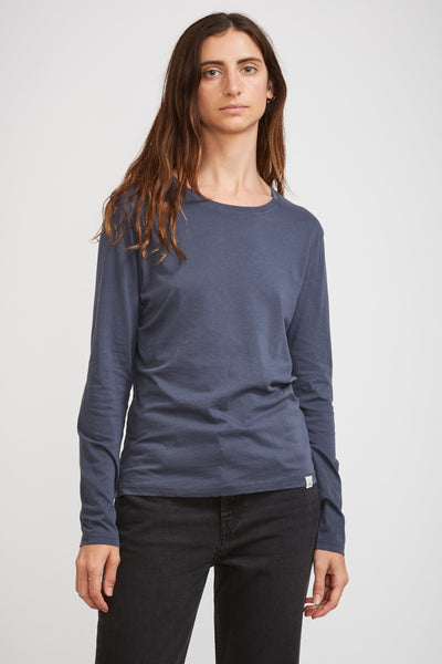 GOOD BASICS | Women's Crew Neck Tee 1/1 Slv Denim Blue - Maplestore