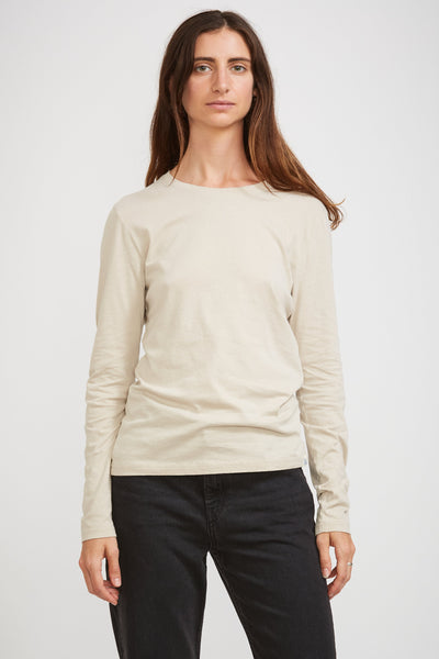 GOOD BASICS | Women's Crew Neck Tee 1/1 Slv Feather Grey - Maplestore
