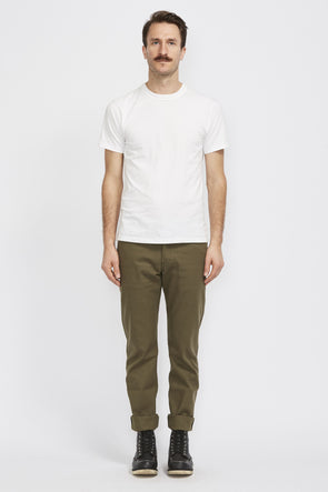 NAKED AND FAMOUS Weird Guy . Army Green Duck Selvedge - Maplestore