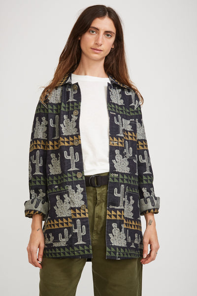Cactus Work Jacket Jacquard Denim - Maplestore