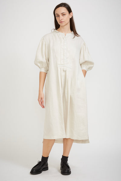 Vintage Sleeve Dress White - Maplestore