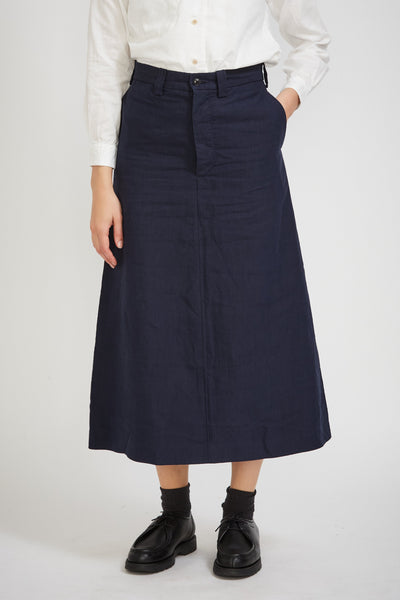Work Trapezoid Skirt Navy - Maplestore