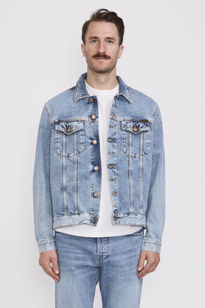NUDIE Jerry Indigo Gaze Jacket . Denim - Maplestore