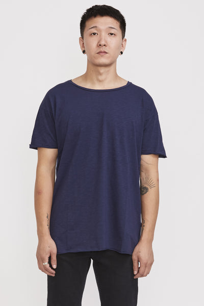 Roger Slub T Shirt Blueberry - Maplestore
