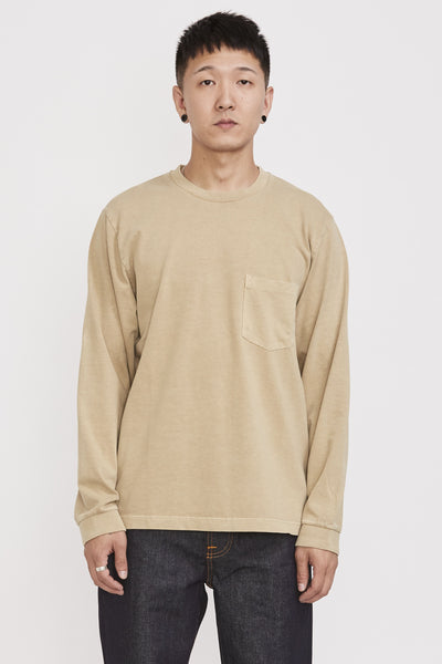 Rudi Heavy Pocket Tee Oat - Maplestore
