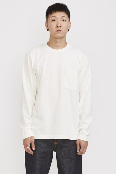 Rudi Heavy Pocket Tee Chalk - Maplestore