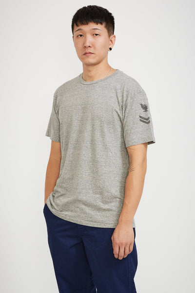 T Shirt Eagle Print Heather Grey - Maplestore