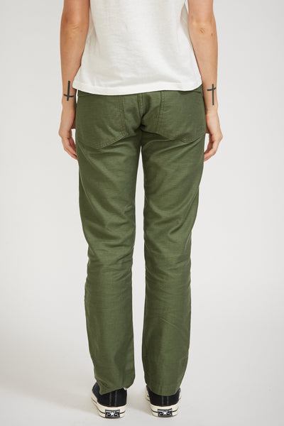 Slim Fit Fatigue Pants Green Womens - Maplestore