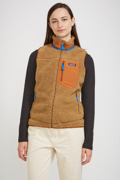 Classic Retro -X Vest Womens Nest Brown - Maplestore