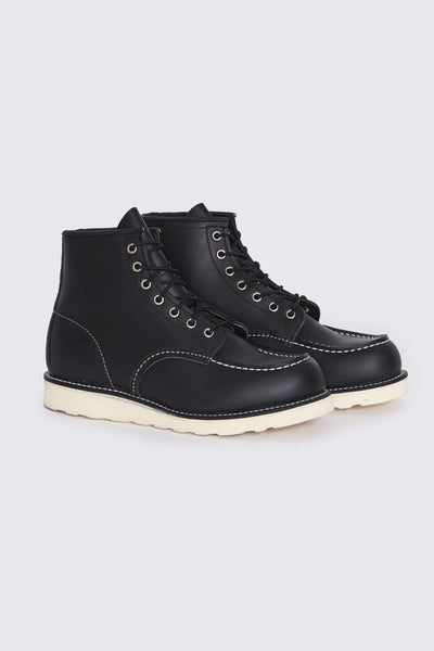 Classic Moc Boot . Black Harness Leather - Maplestore