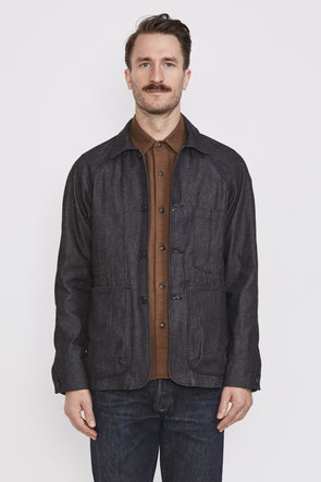 ROGUE TERRITORY Explorer Blazer . Neppy Dark Indigo Denim - Maplestore