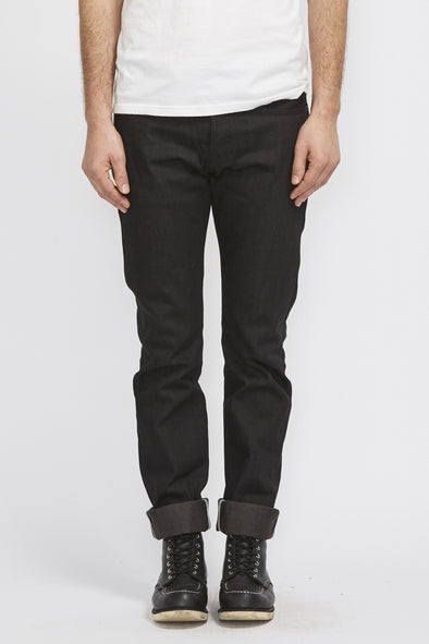 ROGUE TERRITORY Stanton Stealth 15Oz Slim Straight Jean . Black - Maplestore