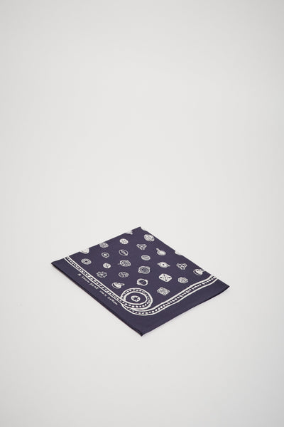 Cotton Dot Bandana Navy - Maplestore