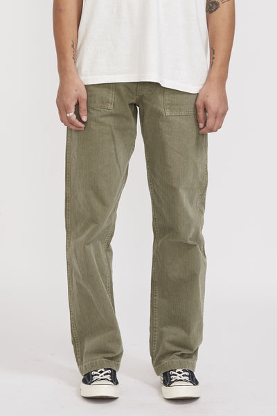 U.S.M.C Herringbone Pants Early Model Olive - Maplestore