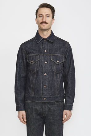 SUGARCANE 1962 Denim Jacket Slim Fit 14 Oz . Navy - Maplestore