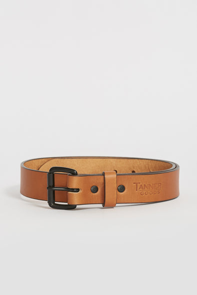 TANNER GOODS Standard Belt . Saddle Tan/Black - Maplestore