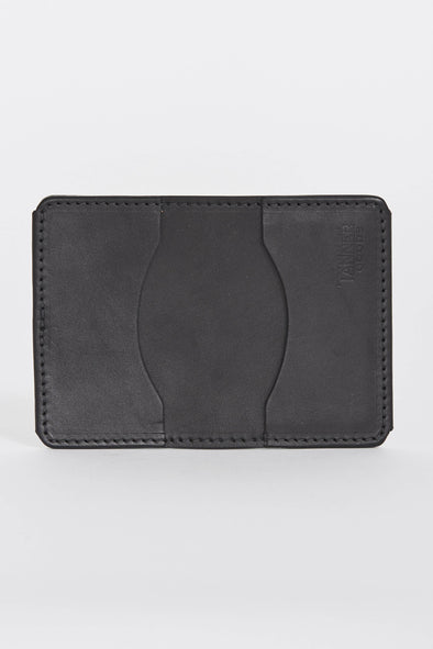 TANNER GOODS Union Quad Wallet . Black - Maplestore