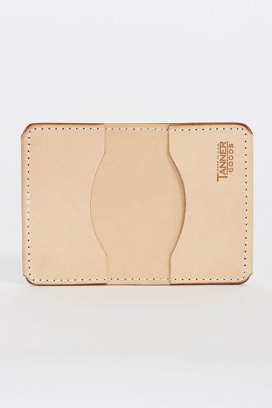 TANNER GOODS Union Quad Wallet . Natural