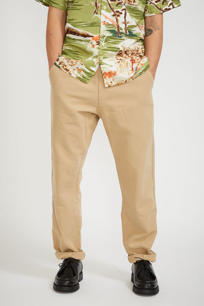 Track Trouser Canvas Sand - Maplestore