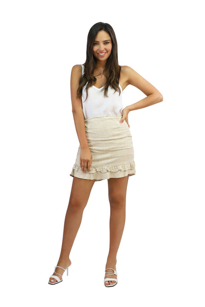 Belle Skirt - Beige