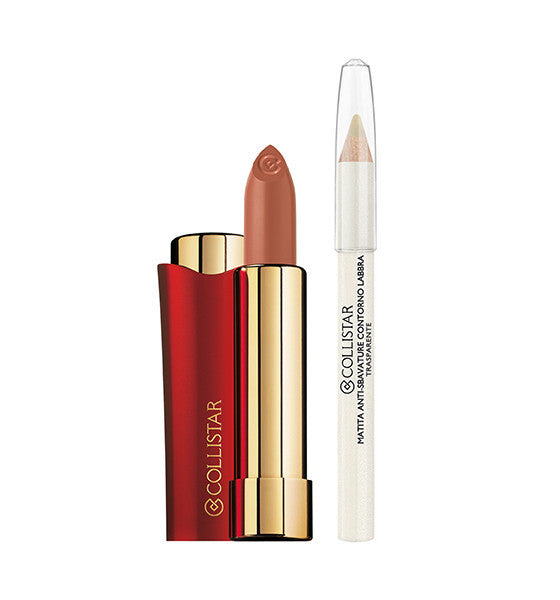 Giardini Italiani - Vibration of Colour - Smudge Proof Lip Stick + Transparent Lip Contour Pencil