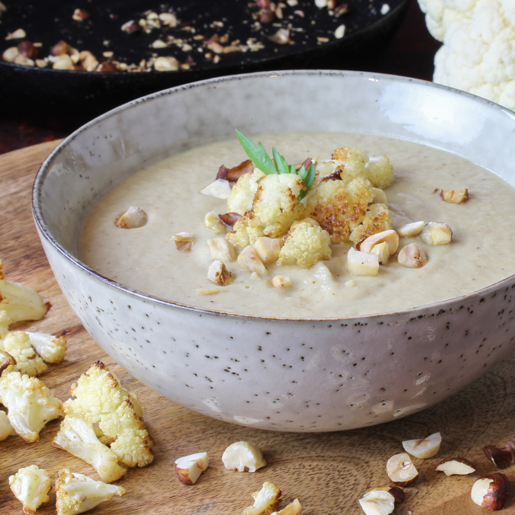 Middle Eastern spiced roast cauliflower soup