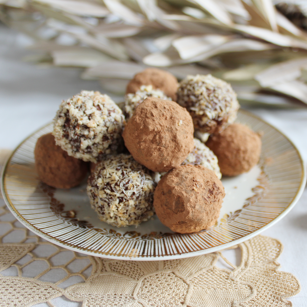 Amazing cultured cream chocolate truffle balls