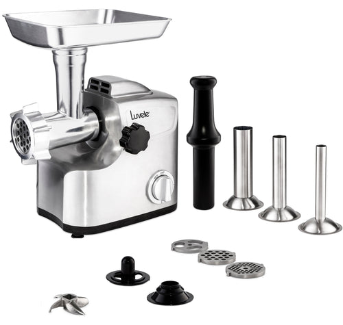 Luvele Ultimate Electric Meat Grinder | Sausage Maker |  1800w (700w rated)