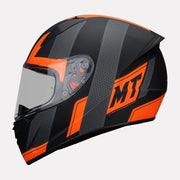 MT Stinger Affair Helmet orange side view