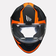 MT Stinger Affair Helmet orange front view