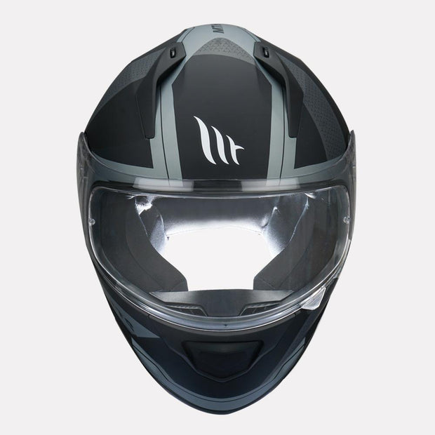 MT Stinger Affair Helmet grey front view
