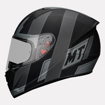 MT Stinger Affair Helmet grey side view