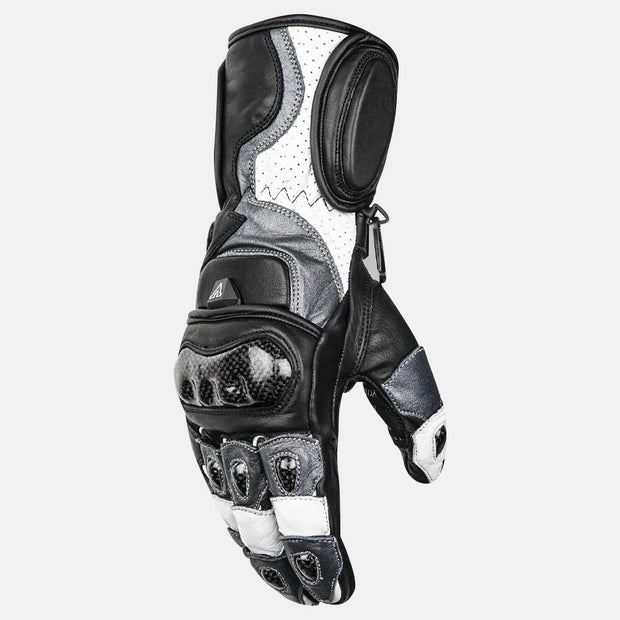 ASPIDA Ares Full Gauntlet Leather Gloves grey side