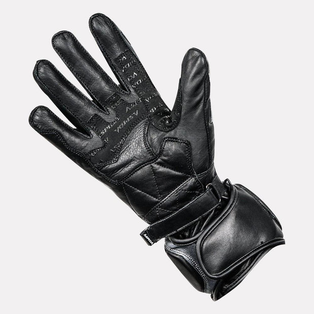 ASPIDA Ares Full Gauntlet Leather Gloves grey palm