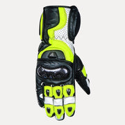 ASPIDA Ares Full Gauntlet Leather Gloves fluorescent yellow front