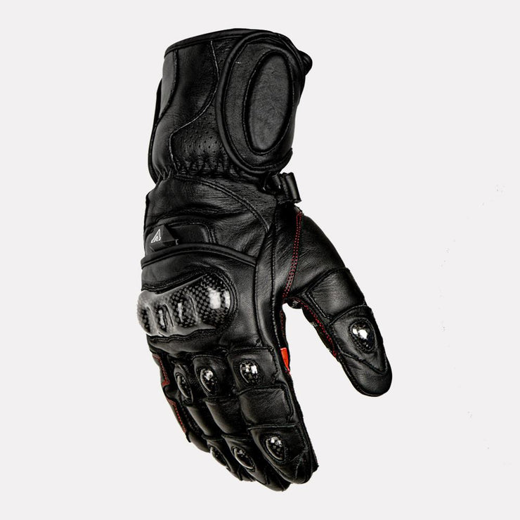 ASPIDA Ares Full Gauntlet Leather Gloves black side