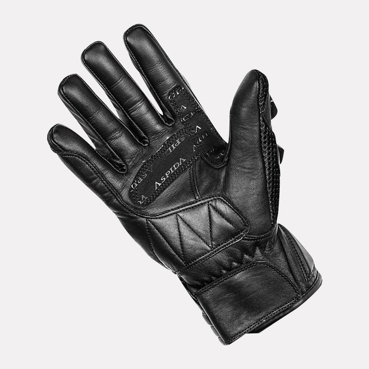 ASPIDA Phaeton Short Cuff Mesh & Leather Gloves black palm
