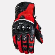 ASPIDA Phaeton Short Cuff Mesh & Leather Gloves red front