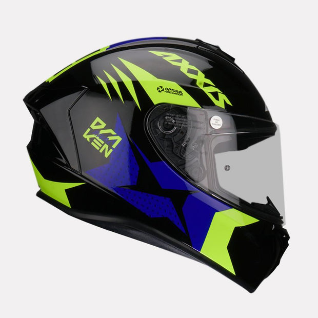 AXXIS Draken Rival Helmet blue side view