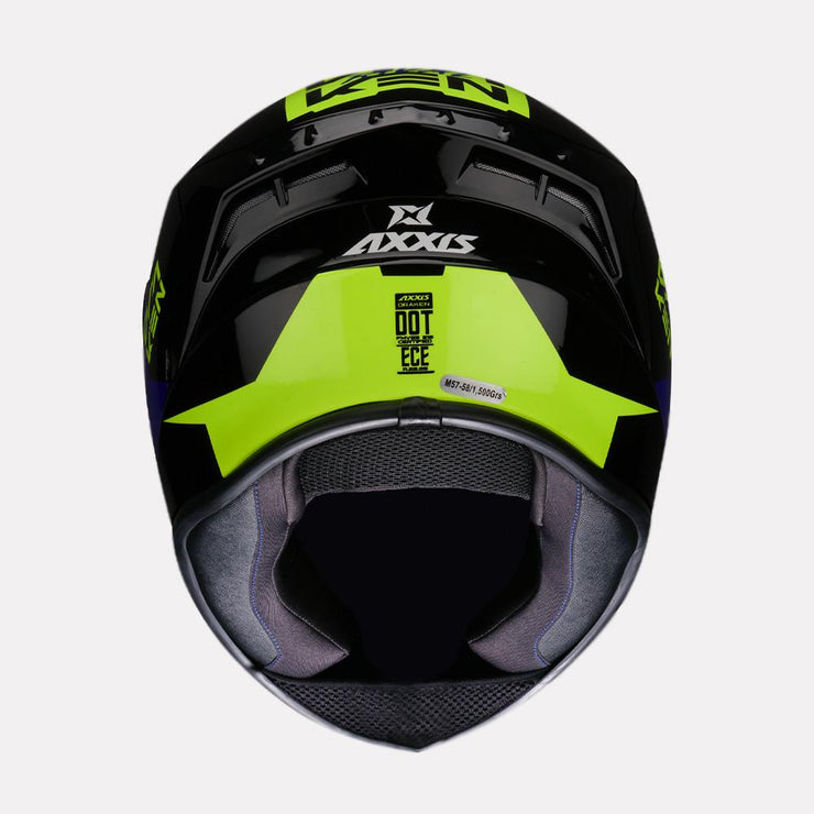 AXXIS Draken Rival Helmet blue back view