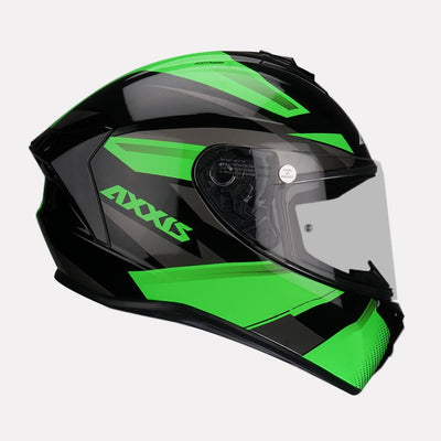 AXXIS Draken Ronin Helmet green side view