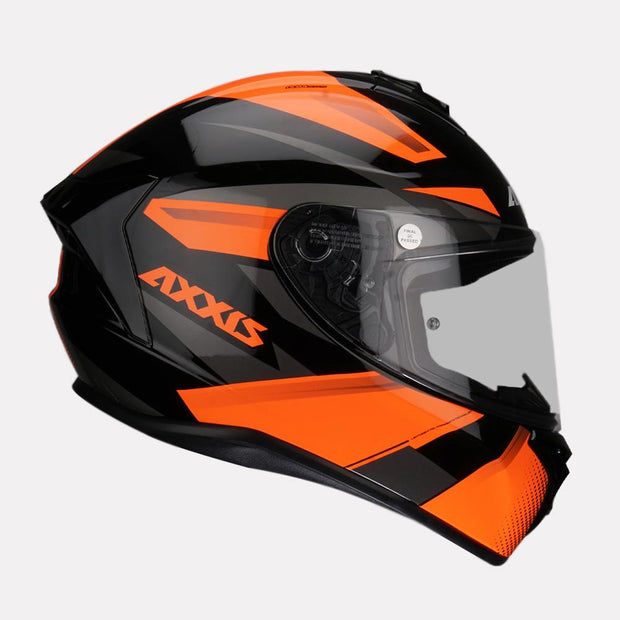 AXXIS Draken Ronin Helmet orange side view
