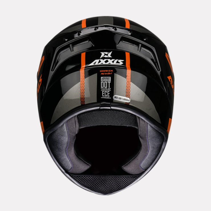 AXXIS Draken Ronin Helmet orange back view
